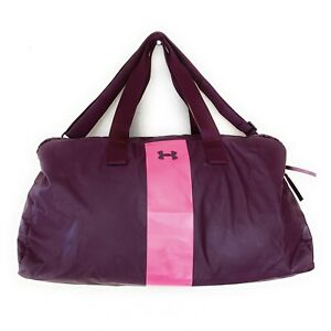 Under Armour Universal Duffel Dance Bag Gym Weekend Purple Pink Removable Strap
