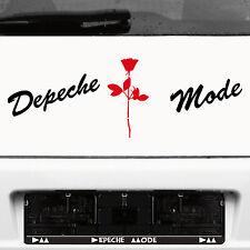 Depeche Mode Schriftzug schw + Violator Rose rot Aufkleber Tattoo Auto Dekofolie