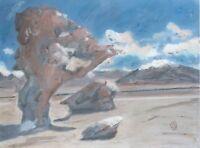 Arbol De Piedra The Stone Tree Abstract Landscape Original Painting Art Rock