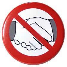 10 Button Pin Anstecknadel nicht Hand geben kein Händeschütteln Corona Schutz