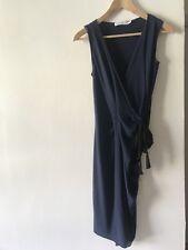 SEE BY CHLOE SLEEVELESS UNIQUE SEMI WRAP EFFECT DRESS SIZE S  10 UK