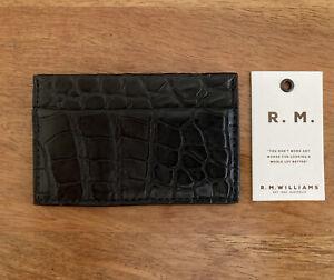 RM Williams Crocodile Credit Card Holder Black RRP$300.00 Australian Made