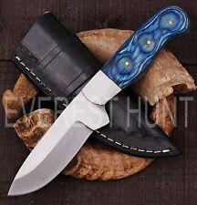 EVEREST HUNT CUSTOM HANDMADE D2 TOOL STEEL HUNTING CAMP SKINNER KNIFE B5-1947