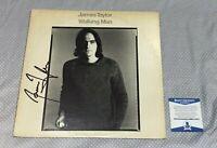 JAMES TAYLOR SIGNED WALKING MAN LP ALBUM COVER Autographed BAS CERTIFIED COA