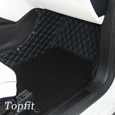 Topfit Customized Floor Mats & Front and Rear Trunk Mat for Tesla Model X 6 Seat