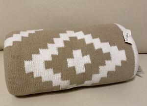 Koala Baby Sweater Knit Baby Blanket  White Tan Beige Brown Toys 'R' Us