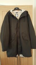 Mens XL Generous Size Gap Sherpa Lined Fishtail Parka Coat Jacket RRP £99.99
