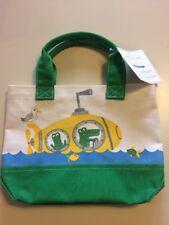 "NEW Pottery Barn Kid Mini Tote Bag Green Alligator Yellow Submarine 12""x3""x8"""
