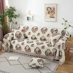 Sofa Cover Chenille Slipcover Washable Jacquard Couch Cover Protector Sofa Towel