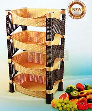Elegante Galaxy Hq 4 nivel Plástico Frutas Verduras Cocina Rack de almacenamiento con ruedas