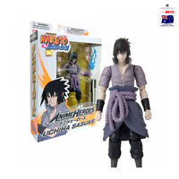 "Bandai Naruto Shippuden Anime heros Series 6""inch Uchiha Sasuke Action Figure"