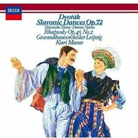 KURT MASUR-DVORAK: SLAVONIC DANCES OP.72 SLAVONIC RHAPSODY NO.2-JAPAN SHM-CD C94