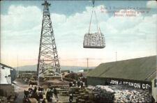 Nome AK John Swenson Co Cableway Unloading Grain c1910 Postcard