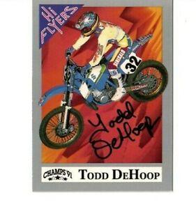 Champs Hi Flyer 1991 Todd DeHoop Autographed Suzuki RM250 Motocross Supercross