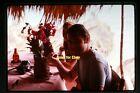 Man Camera Sunglasses Pineapple Beer Bottle in 1971, Original Slide aa 3-14b