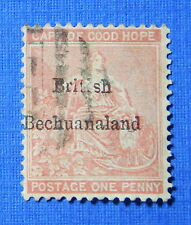 1885 BRITISH BECHUANALAND 1d SCOTT# 6 S.G.# 5 USED                       CS20504