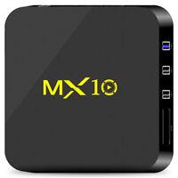 MX10 Smart Android 7.1.2 TV Box RK3328 4K H.265 4GB+32GB WiFi HD Media Player EU
