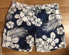 Men's  Blue - White Floral Tropical swim Trunks  size XXL  by St John's Bay