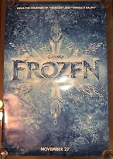 "FROZEN Original Teaser Movie Poster 27""x40"" One Sheet Double Sided Disney RARE"