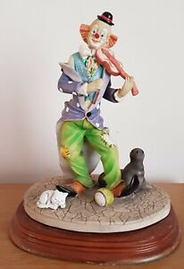 The Leonardo Collection Circus Clown Playing Violin With Seal And Cat- 1993