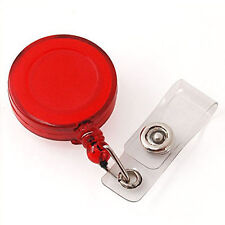 2 x BADGE REEL RETRACTABLE SKI PASS ID CARD HOLDER KEY CHAIN CARABINER RECOIL