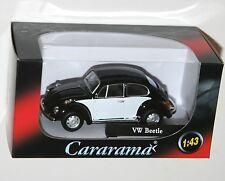 Cararama - VW Volkswagen BEETLE (Black/White) Model Scale 1:43