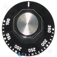 Black Universal Thermostat Control Knob Dial 50-350 Marking 350oC Fits 6Mm Shaft