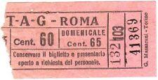 ANTICO BIGLIETTO AUTOBUS E TRAM 1940 ca. - ATAG - ROMA - Cent. 60 ROSA - 01