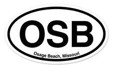 "OSB Osage Beach Missouri Oval car window bumper sticker decal 5"" x 3"""