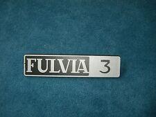 Emblem / Badge Lancia Fulvia 3 ca, 15 x 3,5 cm, 2 Befestigungsstifte Pins