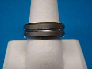 Tungsten Carbide  Matte Finish Wedding Band Ring Size 10
