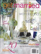 Get Married wedding magazine Wild west honeymoons Dresses Makeup and skin tips