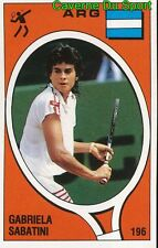 196 GABRIELA SABATINI ARGENTINA TENNIS STICKER SUPERSPORT 1988 PANINI RARE & NEW