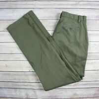 BROOKS BROTHERS Fleece Boys' Cotton Blend Chino Khaki Pants SIZE 18 Dark Green