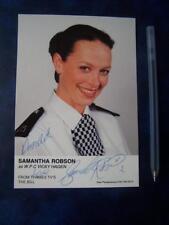 Samantha Robson - The Bill   Autograph (DD8)