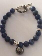 michael dawkins sterling silver bracelet sodalite