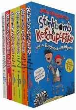 Stinkbomb and Ketchup-Face Series 6 Books Collection Pack Set By John Dougherty