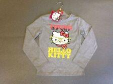 T-shirts, hauts et chemises gris Hello Kitty pour fille de 2 à 16 ans en 100% coton