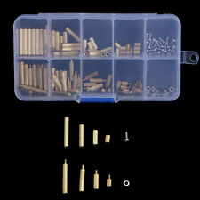 120Pcs M2 Male Female Brass Spacers Stand-off PCB Board Screw Nut Assortment Kit