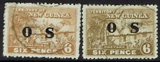 NEW GUNEA 1925 HUT OS 6D BOTH SHADES USED