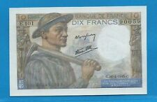 Gertbrolen 10 Francs ( MINEUR )  du 26-4-1945  E.101 Billet N° 250490059