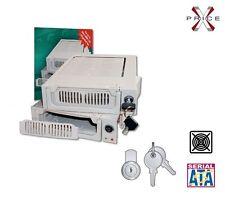 Cassetto estraibile mobile rack SERIAL ATA HDD con ventola e chiavi