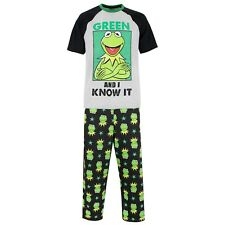Kermit The Frog Pyjamas | Mens Disney PJs | Adults Muppets Pyjama Set