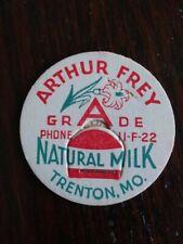 Arthur Frey Milk Bottle Cap Trenton, Mo.