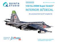 Quinta QD32002 1/32 Su-25SM 3D-Printed & coloured interior (for Trumpeter kit)