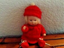 """Vintage Cute Bisque 4.5"""" Doll in Original Outfit"""