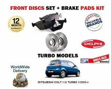 FOR MITSUBISHI COLT 1.5 TURBO 4G15T 1/2005-> FRONT BRAKE DISCS + DISC PADS SET