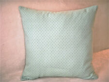 Waverly Blue Green Pillow Cover Pin Dot Diamond Cottage Country Decor Handmade