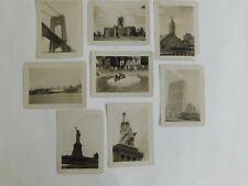 8 Vtg Snapshot Photos New York City 1950 Fordham U. Bronx Zoo, Other Landmarks