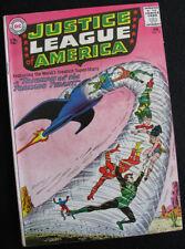 JUSTICE LEAGUE OF AMERICA 17 (1963) ADAM STRANGE FLASHBACK! LARGE PHOTOS! VG
